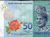 Obverse of a MYR 50 banknote.