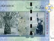 Reverse of a MYR 50 banknote.