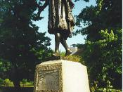 English: Pocahontas Statue, Gravesend. Pocahontas, wife of John Rolfe, was buried in Gravesend. http://www.powhatan.org/pocc.html