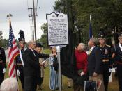 Unveiling of Windsor Hill historical marker