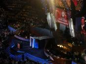 English: John Kerry speaks during the third night of the 2008 Democratic National Convention in Denver, Colorado.