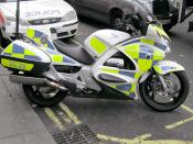 English: A British Transport Police motorcycle in London. Category:Images of Honda motorcycles
