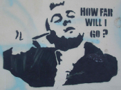 English: Graffiti of Travis Bickle (