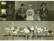 English: Occupational therapy. Toy making in psychiatric hospital. World War 1 era. Selected by Kathleen.