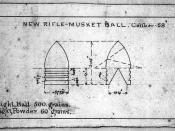 1855 minie ball design from Harpers Ferry, West Virginia.