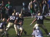 Brady Quinn taking a snap against Stanford