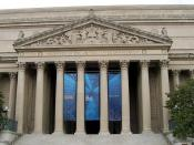 """National Archives frieze, north façade """"This building holds in trust the records of our national life and symbolizes our faith in the permanency of our national institutions"""""""