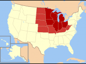Map of Midwest.