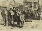 English: Bostonians reading Stamp Act, 1765.