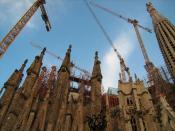 English: Dome of Sagrada Familia, designed by Gaudi (Barcelona).
