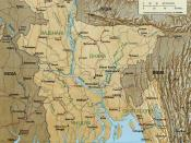A Map showing major rivers in Bangladesh including both branches of Brahmaputra - Jamuna and lower Brahmaputra.