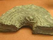 Mauryan ringstone, with standing goddess. Northwest Pakistan. third century BC. British Museum.