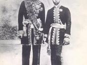 English: King Mongkut or Rama IV with his son the future King Chulalongkorn