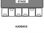 English: Six subwoofers in a so-called cardioid subwoofer array, or CSA. Derived from D&B Audiotechnik technical information document number 330, available at http://www.nordic.dk/_en-GB-II/Content/Data/PDF%20og%20andre%20filer/PDF/Download%20center/Lydaf