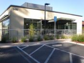 The entrance to the VMware headquarters at 3401 Hillview Avenue in Palo Alto, California.