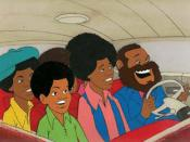 A scene from Rankin/Bass's The Jackson 5ive Saturday morning cartoon.