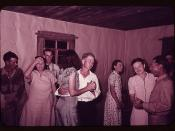 Scene at square dance in rural home in McIntosh County, Oklahoma  (LOC)