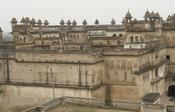 English: King Palace (Raja Mahal), Orchha, Madhya Pradesh, India.