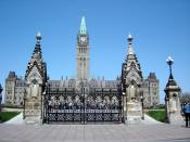 The entrance to Canada's Parliament Hill in Ottawa, Ontario.