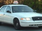1998-present Ford Crown Victoria photographed in Montreal, Quebec, Canada.