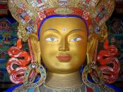 Thikse monastery. This statue of the Maitreya Buddha is about 30 ft tall!