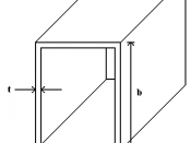 English: Closed thin-walled section of beam for use in structural analysis.