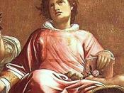 English: St Stephen (detail), painting by Giacomo Cavedone