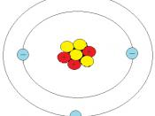 English: Simple illustration of atomic configuration of lithium.