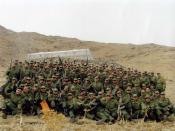 English: A number of Amateur young soldiers (with a bachelor's degree) in training term (bimestrial) in the Malik al-Ashtar barracks belong to Law enforcement in Iran.