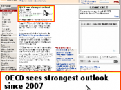 English: Screen shot of the BOLT Browser displaying the Financial Times in split screen mode on a Nokia N95