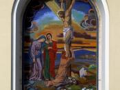 English: Bytča (Nagybiccse) - mosaic in the catholic church Slovenčina: Bytča - mozaika v katolíckej cirkvi