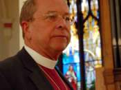 English: Bishop Gene Robinson of the Episcopal Diocese of New Hampshire, at Episcopal Church of St. John the Evangelist, San Francisco, in 2005