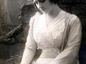 Maria Kuznetsova, the opera singer, as Mimi in La Boheme