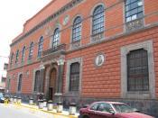 English: Front facade of the Academy of San Carlos on Academia Street in the historic downtown of Mexico City Deutsch: Fassade der Academia de San Carlos in Mexiko-Stadt