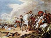 English: Battle of Naseby, by an unknown artist. The victory of the Parliamentarian New Model Army, under Sir Thomas Fairfax and Oliver Cromwell, over the Royalist army, commanded by Prince Rupert, at the Battle of Naseby (June 14, 1645) marked the decisi