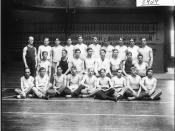 Men's physical education class 1908