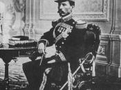 Photograph of the then Colonel Porfirio Díaz, taken in 1861. By this age, Díaz was a Federal Deputy and had participated in two wars, namely Ayutla Revolution (1854-55) and War of Reform (1857-1861).