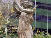 Replica of the Goddess of Democracy statue at Freedom Park in Arlington, Virginia