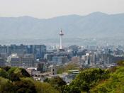 English: Kyoto, view from Kiyomisu-dera temple, Kyoto Prefecture, Japan Français : Vue de Kyoto à partir du temple Kiyomisu-dera, préfecture de Kyoto, Japon