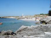 The Basin, Rottnest Island, Western Australia. The Bathurst Lighthouse can be seen.