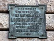 Leonhard Euler lived here
