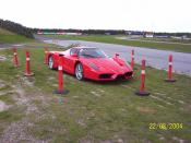 English: Enzo Ferrari owned by Danish plumber and professional race car driver Rene Rasmussen. Photo taken at a test track at Roskilde.