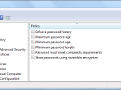 Local Security Policy editor in Windows 7
