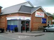 English: Tesco Express local store in Trowbridge, Wiltshire, UK