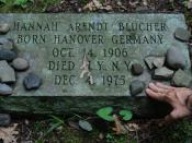 Hannah Arendt's Grave at Bard College