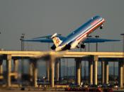 English: DFW American Airlines Departure