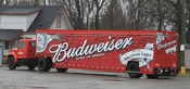 English: Budweiser beverage delivery truck, Wayne & Ecorse Roads, Romulus, Michigan