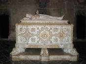English: The tomb of Vasco da Gama, in the Jerónimos Monastery, Lisbon. Français : La tombe de Vasco de Gama, dans le monastère Saint Jérôme, à Lisbonne.