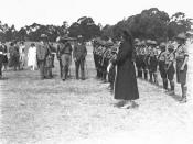 Boy Scouts reviewed by Lord Baden Powell in Canberra in 1927