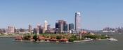 Ellis Island as seen from Liberty Island, New York City